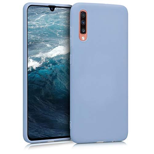 kwmobile Cover Compatibile con Samsung Galaxy A70 - Cover Custodia in Silicone TPU - Backcover Protezione Posteriore- Blu Chiaro Matt
