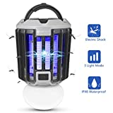 YUNLIGHTS Bug Zapper Light, 2 in 1 Portable LED Mosquito Killer Lamp USB Rechargeable Killer Lights, IPX6 Waterproof...