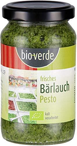 bio-verde Bio Pesto Bärlauch kalt verarbeitet-garantiert nicht erhitzt (6 x 165 gr)