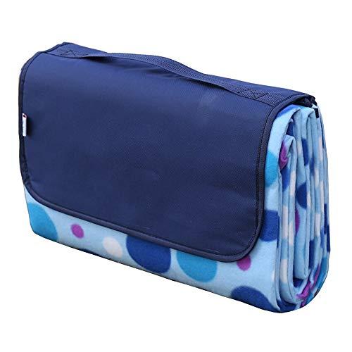 Susulv-hm Outdoor & Picknickdecke Strandmatte Picknick-Matte Moisture Barrier-Zelt-Matten Doppelseitige Kinder Krabbeln Mat (Farbe : Blau, Größe : 1.5x1.8m)