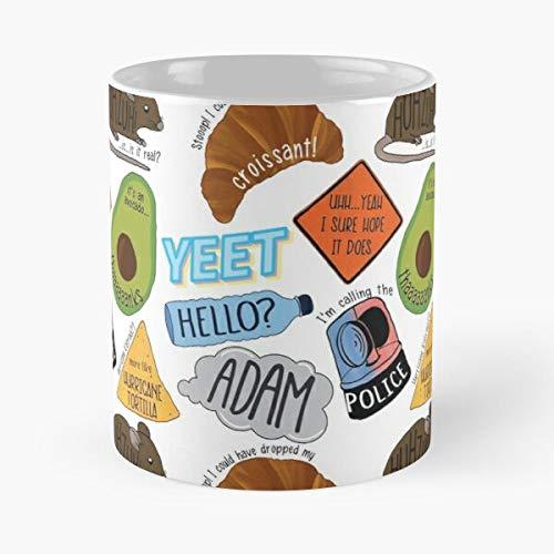 Meme Vine Yeet Pack Packs Best Taza de café de cerámica de 325 ml