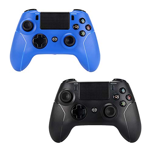 2 Pack Wireless Controllers for PS4 and Joystick for Playstation 4 Control - YU33 for DS4 Remote Joystick Support Playstation 4,Pro/Slim PS4,PC,PS TVs,Smart TV?Black+Red Diamond?