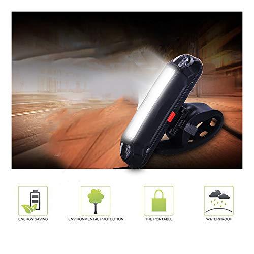 LED Fahrradlicht, huichang LED Fahrradbeleuchtung USB Wiederaufladbare Frontlicht und Rücklicht Set, Fahrradlampe, 2 Licht-Modi, Fahrradlichter mit USB-Kabel für Mountainbike