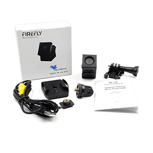 Iusun Action Camera, Hawkeye Firefly Micro Action Cam 1080P Mini FPV Recording Camera for 90 100 F3N9 (Black)