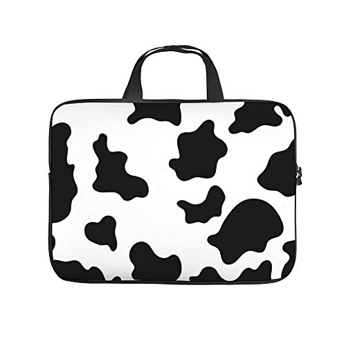 Laptop Sleeve 15.6 inch with Handle Water Repellent Neoprene Bag Protective Case Cover Compatible with MacBook Pro/Asus/Dell/HP/Sony/Acer - Cow Animal Prints Pattern Morden Design