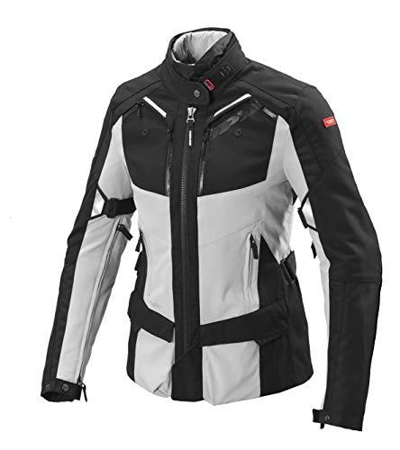 SPIDI Damen Motorrad Jacke 4Season Wasserdicht und Steppdecke abnehmbarer XS BLACK/GREY