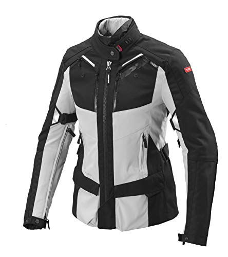 SPIDI Damen Motorrad Jacke 4Season Wasserdicht und Steppdecke abnehmbarer S BLACK/GREY