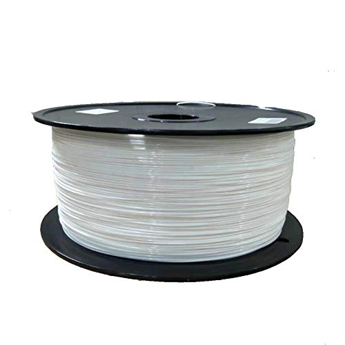 3d Printer Pla Filament, 5kg Spool, 1.75mm, White and Black Optional, for 3d Printer and 3d Pen-White