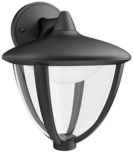 Philips Luminaire Extérieur Lanterne Murale descendante Robin Noire LED Intégrée 1x45W 230V