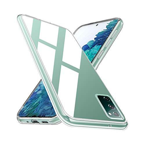 Wlife Crystal Clear Kompatibel mit Samsung Galaxy S20 FE 4G/5G Hülle Transparent Stoßfest Anti-Gelb Anti-Kratzer Dünn Handyhülle Slim PC mit TPU Silikon Rahmen Durchsichtige Schutzhülle S20 FE Hülle