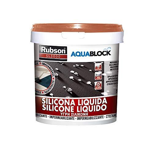 Rubson Aquablock SL3000 Silicona Líquida, impermeabilizante líquido para prevenir y