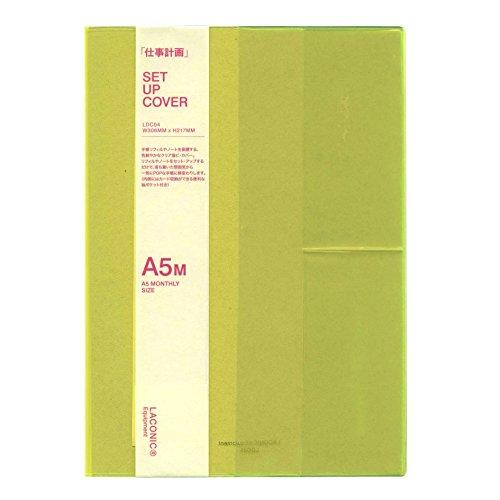 ラコニック 手帳カバー A5 マンスリー用 ビニール イエロー LDC04-45YE