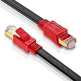 フラットCat8 イーサネットケーブル MofaHz 26AWG Cat 8 LANネットワークケーブル 40Gbps 2000Mhz 高速ギガビットプロフェッショナルプレミアムSDRAMインターネットケーブル Cat7/Cat5e/Cat6/Cat6eと互換性あり 20ft