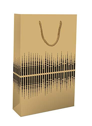 LUDI-VIN Lot de 10 sacs en papier de luxe avec poignées...