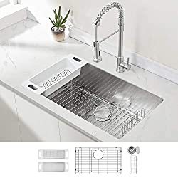 ZUHNE Modena 32 Inch Single Bowl Stainless Steel Sink