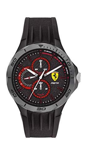 Scuderia Ferrari Pista Analog Black Dial Men's Watch-0830725