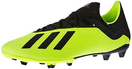 Adidas X 18.3 FG, Zapatillas de Fútbol Hombre, Amarillo (Solar Yellow/Core Black/Footwear White 0), 41 1/3 EU