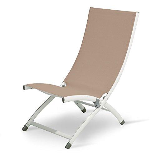 Legno&Design Chaise Longue en Aluminium et textilène