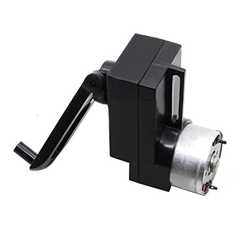 Qianson 4W Hand Crank DC Power Generator Gear Motor Dynamo Hand held Generator 100-300mA For DIY Flashlight Portable Charger