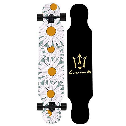 42 Inch Drop Through Longboard Skateboard Complete Maple Freestyle...