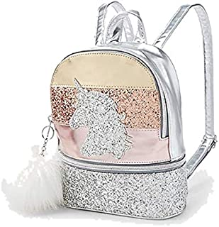 Justice Unicorn Glitter Stripe Mini Backpack