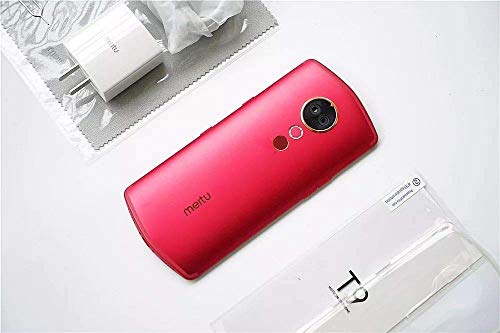 """Original Meitu T9 4G LTE 6.01"""" Full Screen 6GB RAM 128GB ROM Snapdragon 660 Octa Core Android 8.1 QuickCharge Fingerprint Face Unlock Cameras Dual Front/Rear Camera Smartphone Mobile Phone (Red)"""