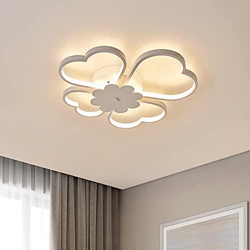 Lámpara De Techo LED Moderna 36W /54W, Luz De Techo para El Hogar con Forma De Trébol De Cuatro Hojas para Sala De Estar Dormitorio Habitación Infantil,White dimmable,19.68in