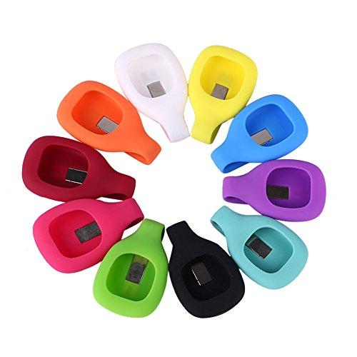 Forfar Clip portable de la correa de silicona Reemplazo de la correa de pulsera pulsera de Para Fitbit Zip Actividad Rastreador de aparatos de ejercicios al aire libre