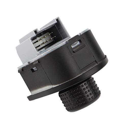 Interruptor de controle do espelho retrovisor, interruptor do espelho da porta lateral do motorista dianteiro durável Interruptor do botão do espelho retrovisor, para veículos automóveis