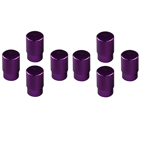 #N/A/a Vástago de Válvula de Neumático de Rueda Sin Cámara de Aleación de Aluminio de 8 Piezas con Juego de Tapa Antipolvo Púrpura