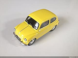 Générique Fiat 600 D Diecast Car 1:43 Scale Yellow -réf P189 Yellow