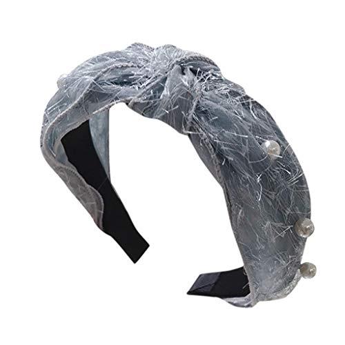 jerferr Had Stirnband Crystal Stirnband Stoff Haarband Kopf wickeln Haarband Zubehör