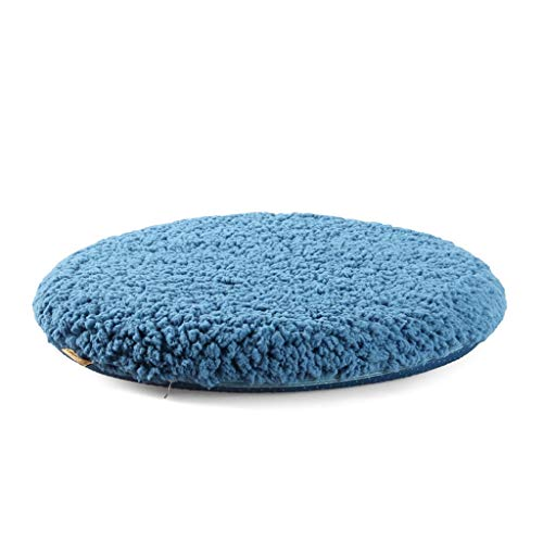 KEKOR Chair Cushion Plush Round Cushion, Memory Cotton Dining Chair Cushion Round Stool Cushion Chair Cushion Winter Warm Office Home Living Room, For Relief And Comfort (Color : B, Size : 42CM)