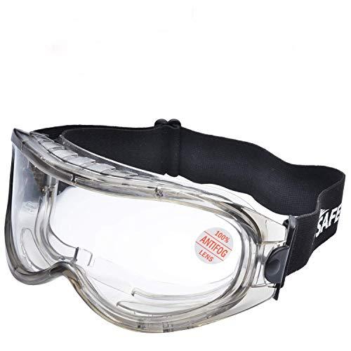 SAFEYEAR Laboratorio Gafas Protectoras de Seguridad de Obra gafas proteccion [Cinta ajustable] SG007 con Lentes Policarbonatos Protección contra Impacto Soldadura Laboral Graduadas Trabajo ✅