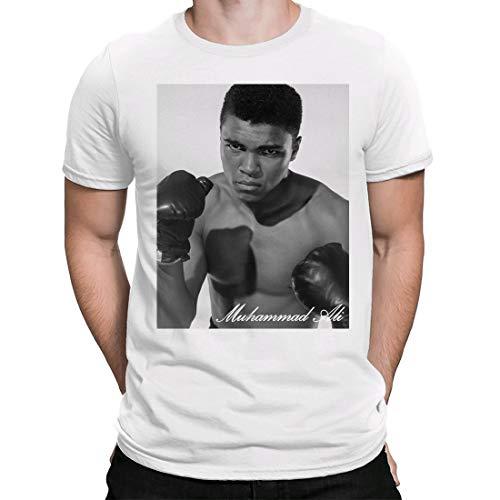 Muhammad Ali 2, Camiseta para Hombre Manga Corta Hombre Camisetas Cuello Redondo Moda Camisetas, Blanco