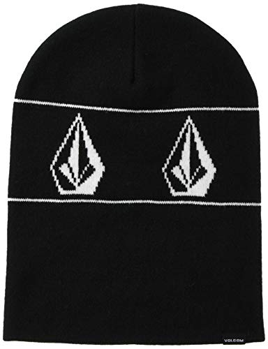Volcom Men's Deadly Stones Snow Beanie, Black, One Size Fits All