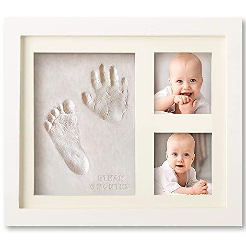 Set de Marco de Fotos y Huellas de Bebé en Arcilla – Recuerdo...