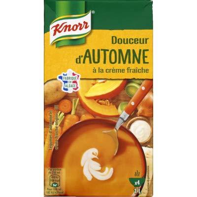 Knorr Soupe Douceur dAutomne à la crème fraîche, légumes issus de lAgriculture Durable, cultivés en plein champs - La brique de 1L