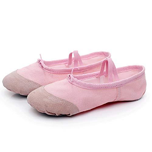Zapatos de baile para niños de suela suave de ejercicio de danza zapatos de ballet zapatos de danza de lona transpirable, color, talla 44 EU