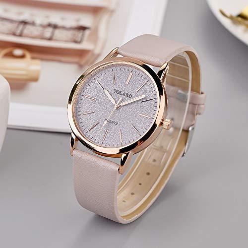 PMSMT 2020 Reloj de Estrella de Moda Superior para Mujer, Reloj de Pulsera de Cuero analógico de Cuarzo Informal, Reloj de Pared, Pegatina de diseño Moderno