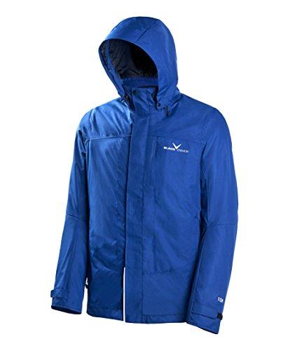 Black Embout Crevice Veste 3 en 1 3 en 1 d'extérieur pour Homme, Bleu, XL
