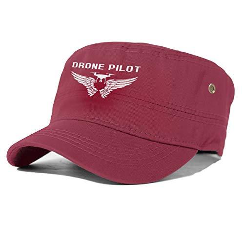 Drone Pilot Basic Militaire Stijl Hoed Effen Kleur Unisex Leger Militaire Cadet Cap