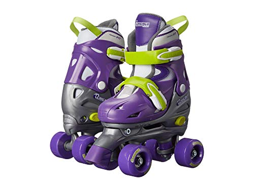 Chicago Kids Adjustable Quad Roller Skates - Purple - Small (Renewed)