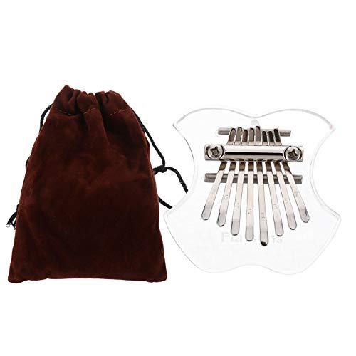 ULTNICE Kalimba 8 Schlüssel Tragbares Transparentes Kalimba Instrument mit Tasche Mini Daumenklavier Musikinstrumente Geschenke für Erwachsene Kinder Anfänger