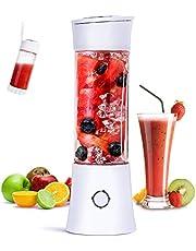 Portable Blender, Fityou Travel Blender Smoothiemaker 480ML USB Oplaadbare Juicer Mixer 100W Mini Personal Fruit Blender met 6 roestvrijstalen messen voor thuis, op kantoor, sport, reizen, buitenshuis