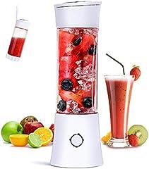 Batidora de Vaso Individuales, Fityou Mini Licuadora Portátil con 6 Cuchillas 480ML Juicer Smoothie Maker USB Recargable Batidoras de Vaso para Fruta, Verdura, Smoothies, Milkshake