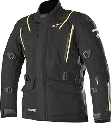 Alpinestars Motorradjacken Big Sur Gore-tex Pro Jacket Tech-air Compatible Black Yellow Fluo, Schwarz/Neongelb, M
