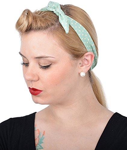 Unbekannt Killer Kirsche Damen Haarband Sofia Punkte (Mintfarben)