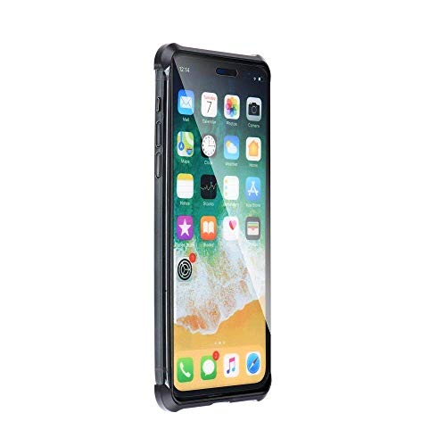 cofi1453 360° Magnet Slim Rahmenlose Metall Case Hülle Schutz Tasche kompatibel mit iPhone X Handyhülle Handyschale Schutz Schwarz