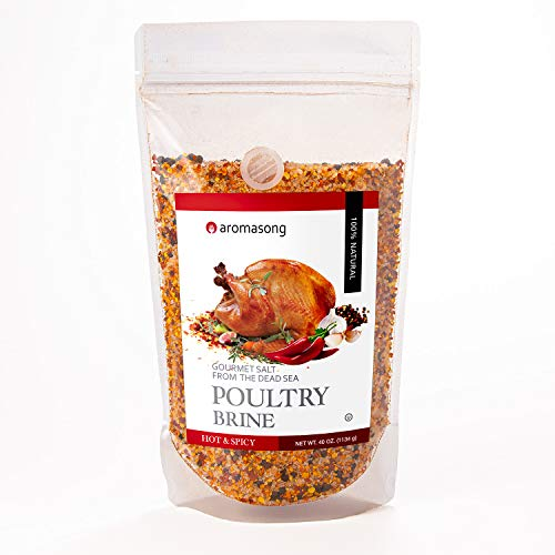 Aromasong Hot & Spicy BBQ Seasoning Grilling Spice Brine, 2.5 Lb. Bag, 100% Natural, Made with Dead Sea Salt